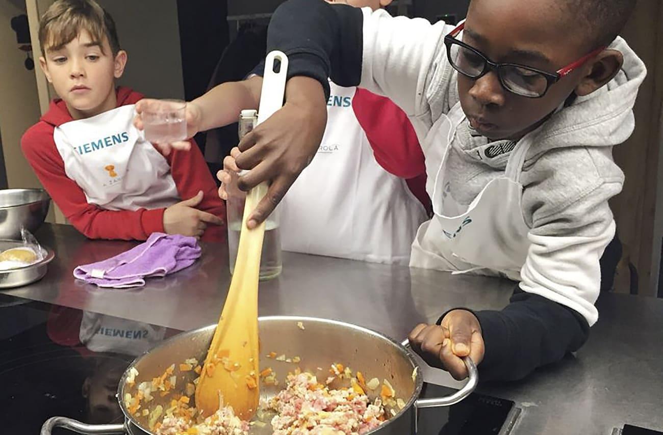 curso cocina niños zaragoza la zarola
