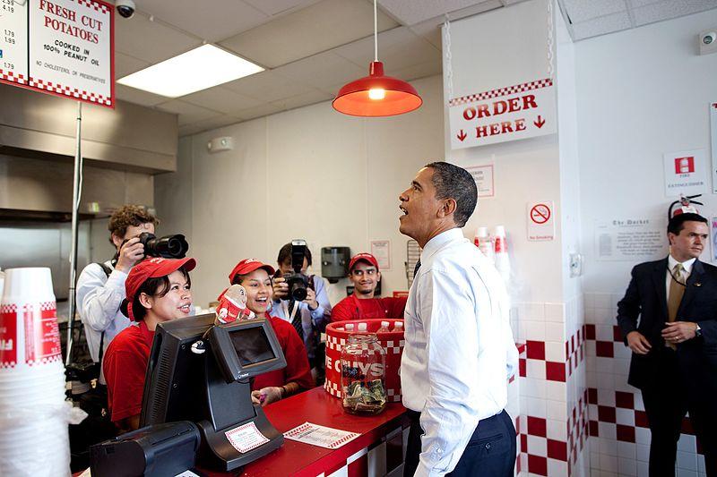 obama five guys